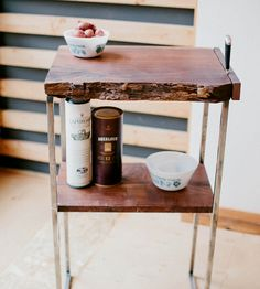 Reclaimed Wood Butcher's Block Table by Carlino on Scoutmob Shoppe. Love the raw edge on this butcher block table, made from Oregon black walnut.