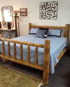 Log Bed - King Sz. Log Bed - On Sale for $539.95 (was $599.95)