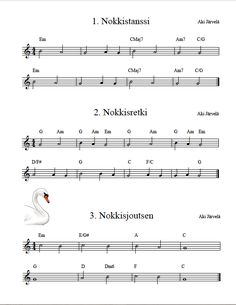 Nuotti-ja musiikkinäytteet | aj-music Musa, Teaching Music, Music Education, Opi, Sheet Music, School, Music Ed, Music Lessons, Music Score
