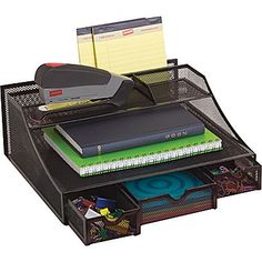 Staples black wire mesh giant desk organizer organization storage pinterest lego the o - Storage staples corner ...