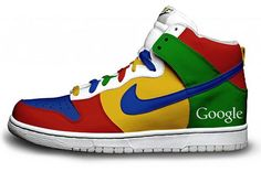 The Wearable Web: Google+ sneaker concept.