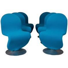 Set of Six Danish Modern 1-2-3 Chairs by Verner Panton for Fritz Hansen, 1950s