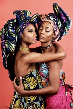 """Check-out this beautiful, cool and stylish Africa-inspired photo shoot titled """"For the Love of Print"""". African cloth and prints wrapped around body and head of the models in such a stylish way, you would think they are wearing high-end Africa-inspired fashion. I love photo shoots like this where every image is just stunning and you... [ Read more ]"""