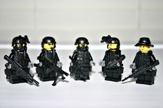 Lego SpecOps 5 man Squad Minifigure Navy Seal Team Swat Army Builder Custom #LEGO