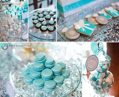 Tiffany blue dessert table. Styled by Petite Pomme Design and baked by Kitty Wong Pastry Shop.