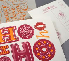 beautiful gift tags // love pink and orange