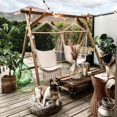 An Impartial Perspective On Boho Backyard 288 Dizzyhome com Bohemian garden, Bohemian outdoor, B Backyard Patio, Patio Stone, Flagstone Patio, Concrete Patio, Outdoor Rooms, Outdoor Decor, Rooftop Decor, Outdoor Hammock, Balkon Design