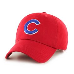 b1a98446422 MLB Chicago Cubs Red Clean Up Adjustable Baseball Hat