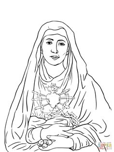 20 best Mary Coloring Pages images on Pinterest in 2018