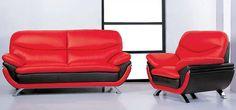 20 Ravishing Red Leather Living Room Furniture