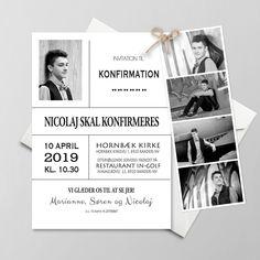 De 40 Bedste Billeder Fra Konfirmations Invitationer I 2019 Mockup