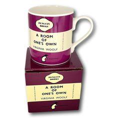 Room Of One's Own, Penguin Classics, Cool Mugs, Porcelain Mugs, Penguin Books, Book Design, Penguins, Tableware, Ebay