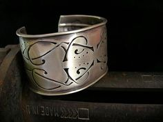 Manuscript Bracelet 1 by Brittany Foster: Silver Bracelet available at www.artfulhome.com