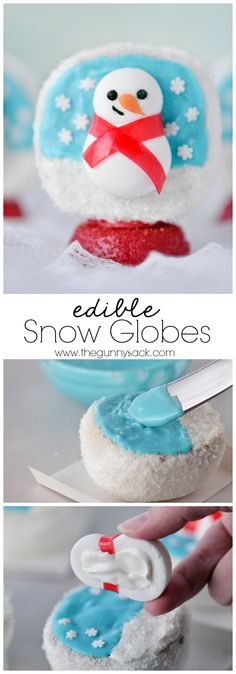 Edible Snow Globes are the CUTEST Christmas treats ever! You can make them with your family this holiday season. #HostessHolidaySweeps #HostessHoliday #spon