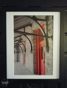 """""""Red Doors""""    16x20 Framed/matted photo printed on metallic paper.  White mat/ Black frame    This photo was an early favorite and has been on display in my 1st solow show """"SidJacks: A Closer Look"""" in 2014 and Baltimore City Hall and BWI Airport in 2015.     Price does not include shipping 