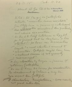 """Churchill and the Dardanelles: 'Kitch[ener]'s tel. on Gallipoli situation """"evacuation seems inevitable""""' - Harcourt's notes of the Cabinet meeting 24 November 1915 Gallipoli Campaign, Battle Of The Somme, Vintage Dance, Winston Churchill, World War I, Inevitable, Military History, Dance Music, Wwi"""