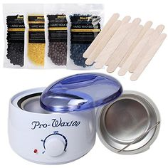 Bluezoo Waxing Kit Electric Wax Warmer with Hard Wax Beans and Wax Applicator Sticks. For product & price info go to:  https://beautyworld.today/products/bluezoo-waxing-kit-electric-wax-warmer-with-hard-wax-beans-and-wax-applicator-sticks/