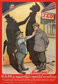 Dobová protikulacká karikatura (Lev Has)