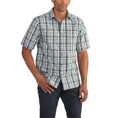 102535 Carhartt Men's Essential Plaid Open Collar SS Shirt