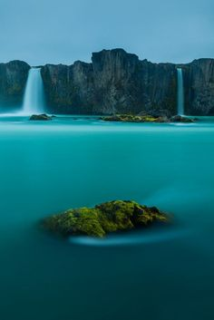 Waterfall of the Gods, Iceland // blue water // natural wonders // Europe // mist // paradise // exotic travel destinations // dream vacations // places to go Places Around The World, The Places Youll Go, Places To See, Dream Vacations, Vacation Spots, Vacation Rentals, Places To Travel, Travel Destinations, Magic Places