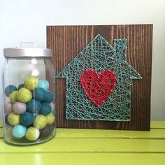 HECHO a pedido cadena arte hogar está donde el corazón es signo