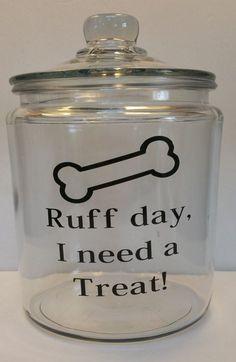 Dog Treat Half Gallon Glass Canister | Dog Lover | Dog Bones | Dog Mom | Fur Babies | Friend Gift | Birthday Gift