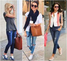 A com jeans skinny