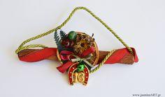Γούρι κανέλα πέταλο Charmed, Christmas Ornaments, Holiday Decor, Jewelry, Jewlery, Jewerly, Christmas Jewelry, Schmuck, Jewels