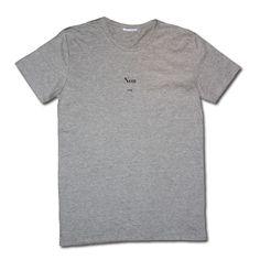 """""""Non - No"""" Tee Shirt Grey Daily Mekong ss/15"""
