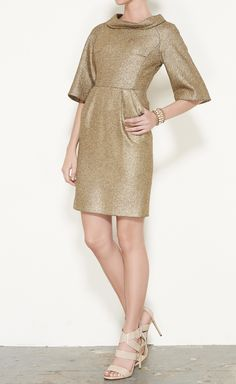 Inspired by the shape and design of this metallic dress