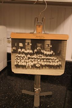Vintage Hanger & Hem Marker Stand to Hang a Photo.  Must find one of these!