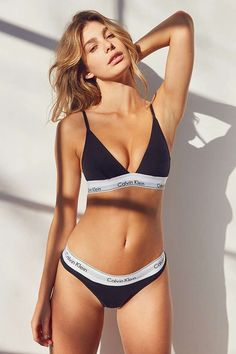 Shop Calvin Klein Modern Cotton Triangle Bra at Urban Outfitters today. We carry all the latest styles, colors and brands for you to choose from right here. Tommy Hilfiger Bra, Ropa Interior Calvin, Boudoir, Calvin Klien, Triangle Bra, Sexy, The Bikini, Calvin Klein Women, Bikini Fashion