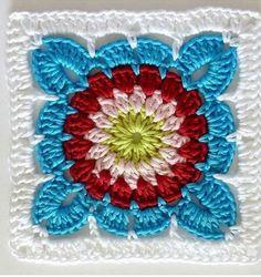 Crochet Home, Crochet Granny, Crochet Motif, Knitting, Flowers, Do It Yourself, Crochet Appliques, Crochet Hats, Bed Covers