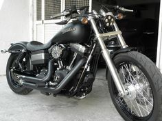 Z Bars on a Fat Bob. - Harley Davidson Forums