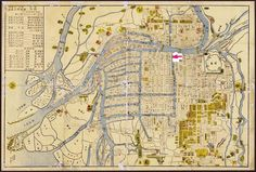 Old map of OSAKA