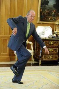 Juan Carlos demonstrates a cool dance move.