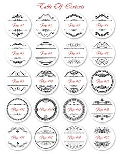 These FREE printable round labels are ready to be filled with your information. Fillable and editable Round Labels are designed with flourishes, embellishments and frames. They come in 10 different colors. 20 different designs. ENJOY -:)