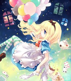 Alice (Alice in Wonderland) Image - Zerochan Anime Image Board Anime Plus, Anime W, Anime Chibi, Art Kawaii, Loli Kawaii, Kawaii Anime, Anime Yugioh, Anime Pokemon, Alice In Wonderland Fanart
