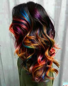 Rainbow Ombre hair color!