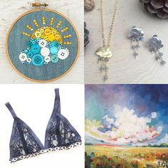 """Etsy Shop: Sewn By The Beach on Instagram: """"Happy #followfriday! We're having some stormy weather here in Florida, so that might've influenced me this morning. Click the four photos above to visit, like and follow four of my favorite Instagram feeds. They're all talented artists and makers that I'm a huge fan of. ☁️⛈"""""""