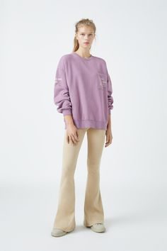 Malva, Pull N Bear, Khaki Pants, Fashion, Full Sleeves, Neckline, Woman, Moda, Khakis