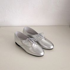 Silver Leather Pony Oxford, $47 | Golden Ponies