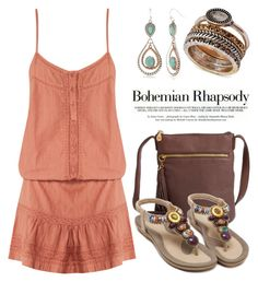 """""""Boho Style 4274"""" by boxthoughts ❤ liked on Polyvore featuring Melissa Odabash, HOBO, Red Camel and Lucky Brand"""