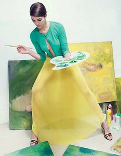 Editorial Love: Parisian Painter in Tatler Russia | Crazy Style Love