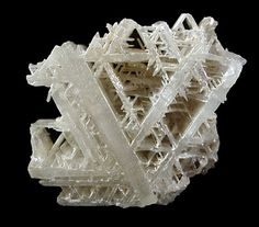 """www.minerals.net    """"Cerussite is a very interesting mineral due to its fascinating crystal formations and bizarre twinning habits. It is easily identifiable by its heavy weight, brilliant luster, and crystal habits. It also performs interesting reactions during blowpipe testing. Specimens may be fragile and should be handled with care."""""""
