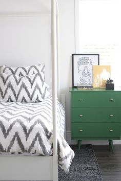 Organic Chevron Duvet + Eduardo Garza Crystal Box from west elm