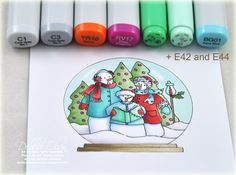 Copic markers- this is what I bought my little brother for xmas. Copic Markers Tutorial, Spectrum Noir Markers, Cute School Supplies, Alcohol Markers, Colouring Techniques, Copics, Colouring Pages, Cardmaking, Christmas Cards