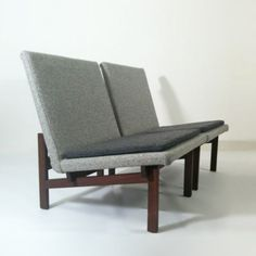 Kho Liang Ie; 'Square Line' Lounge Chairs for Artifort, 1960s.