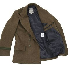 Nigel Cabourn Captain Scott Naval Jacket ($825) ❤ liked on Polyvore featuring men's fashion, men's clothing, men's outerwear, men's jackets, jackets, outerwear, coats, tops, army and filler