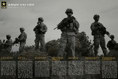 Download the Army Values poster: http://go.usa.gov/cscJn